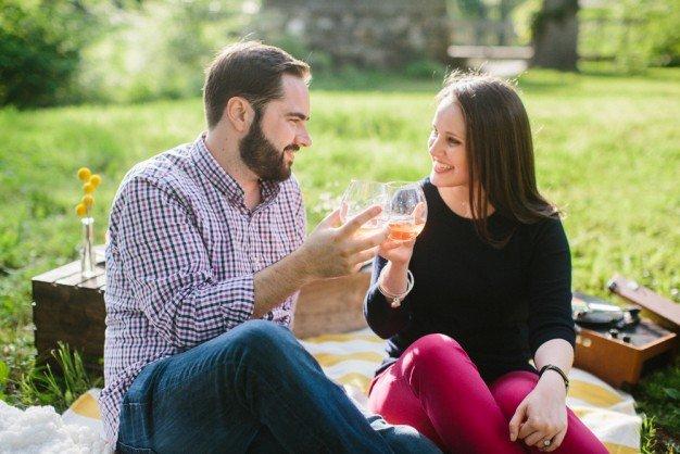 boston picnic engagement shoot