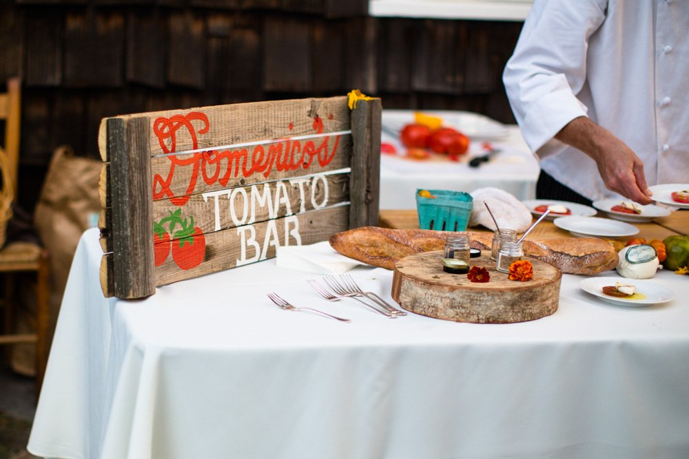 wedding food signage