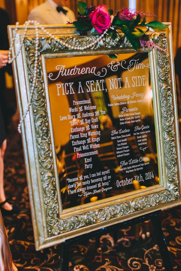 wedding table plan sign