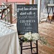 wedding drink sign