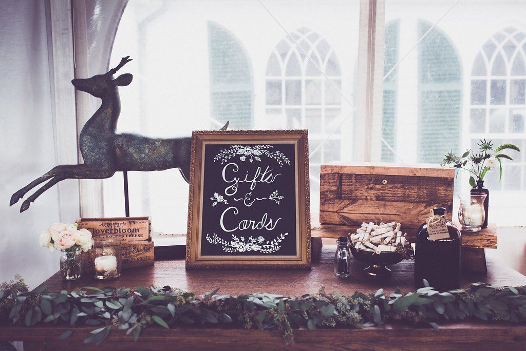 wedding gift and cards sign