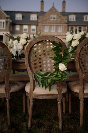 chair flowers