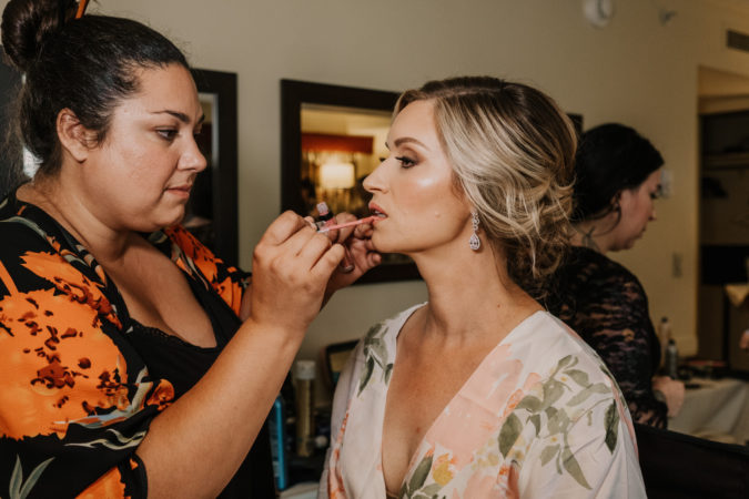 Hair and makeup by Kacie Corbelle