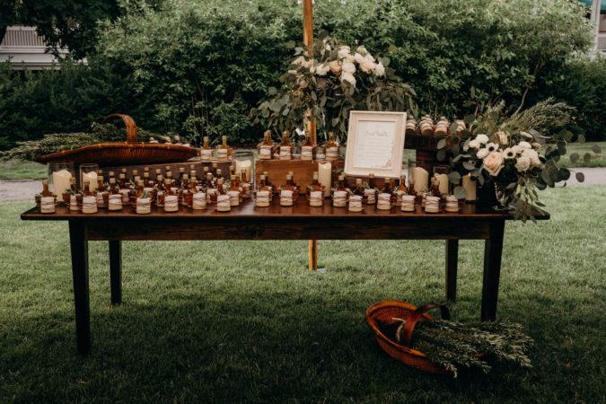 Local Wedding Favor Table