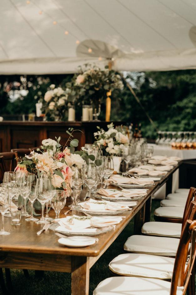 Elegant New England Reception Tables
