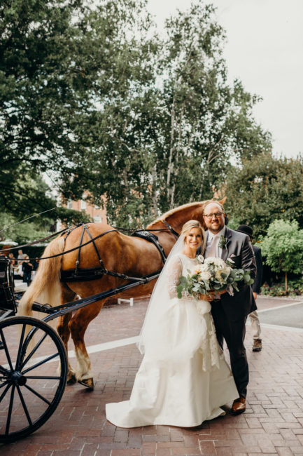Horse and Carriage New England Wedding