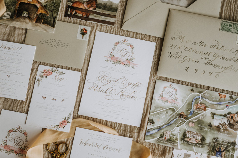 Vermont Wedding Paper Stationary