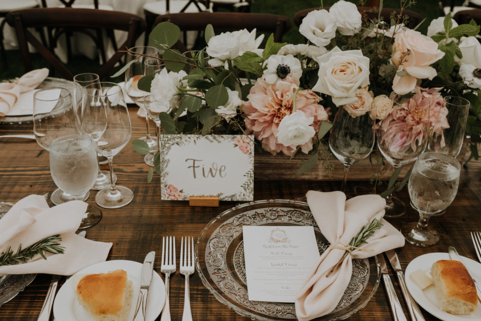 Reception Table Details