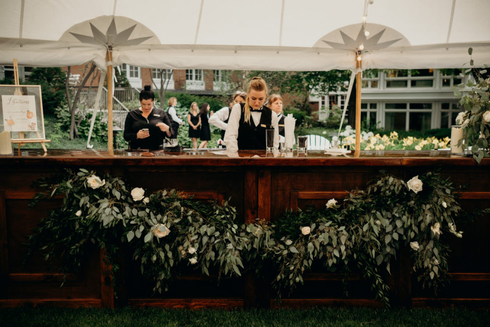 Reception Bar Floral Installation