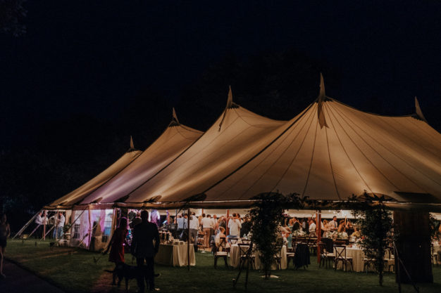 Tented Wedding Reception Party