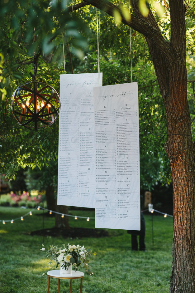marble seating chart