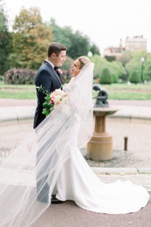 Boston pubilc garden wedding