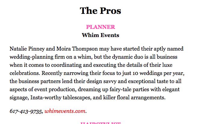 bostons best wedding planner