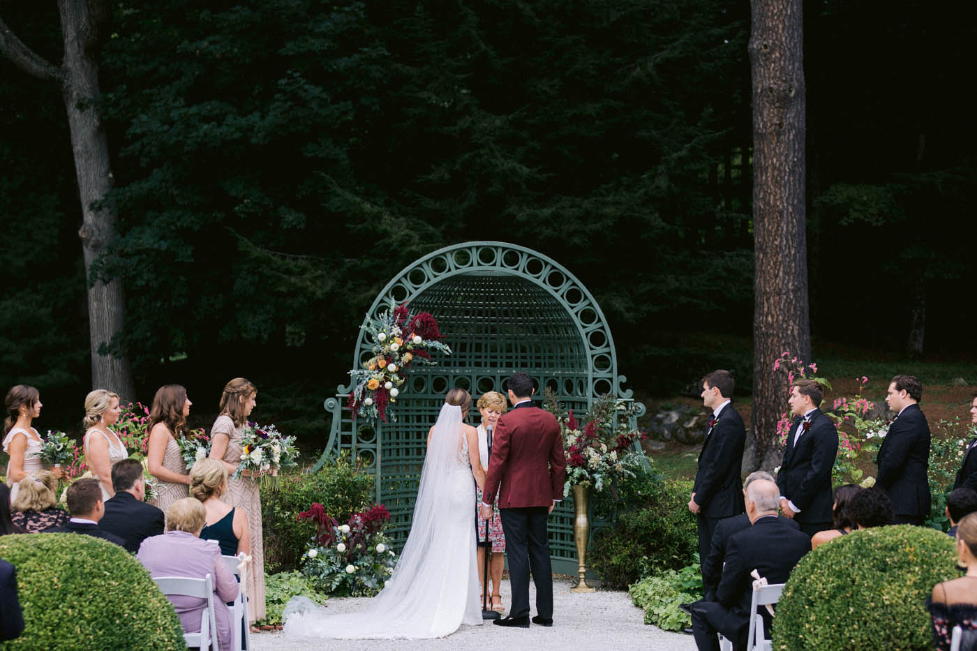 The Mount wedding venue French Flower Garden ceremony