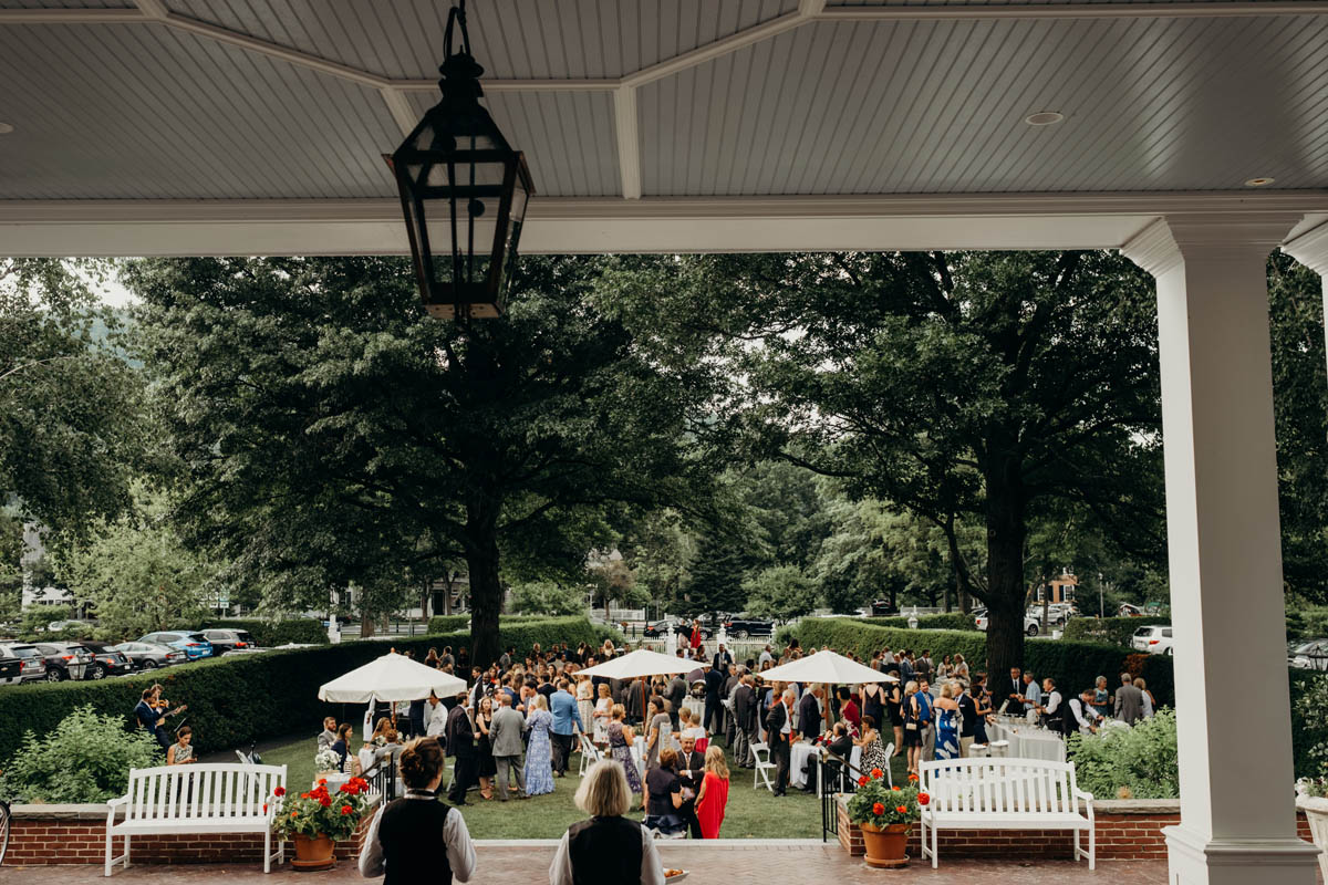 Woodstock Inn's front lawn during an event