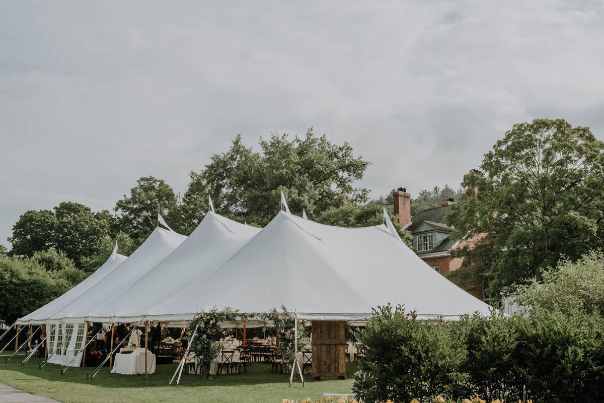 tent reception at Woodstock Inn